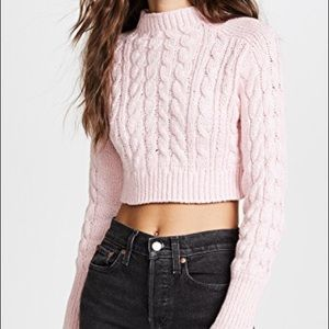 For Love and Lemons Candy Cable Knit Sweater